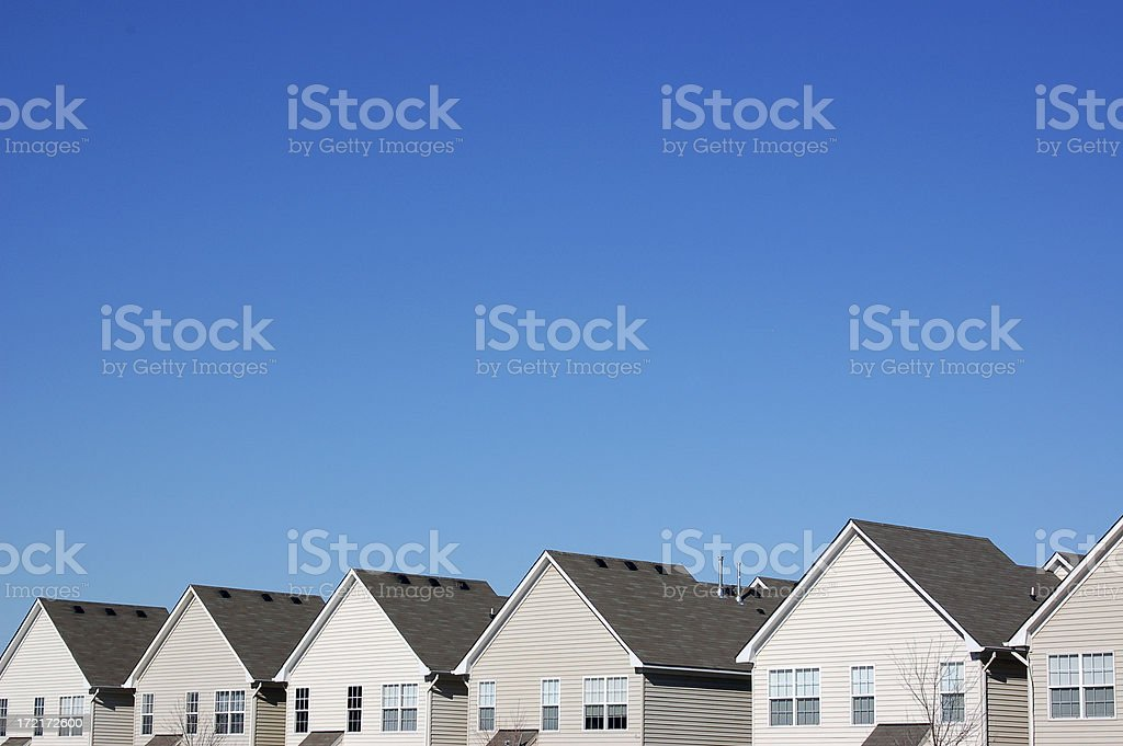 Uniformity in Housing royalty-free stock photo