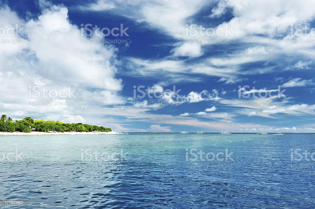 Uninhabited island royalty-free stock photo