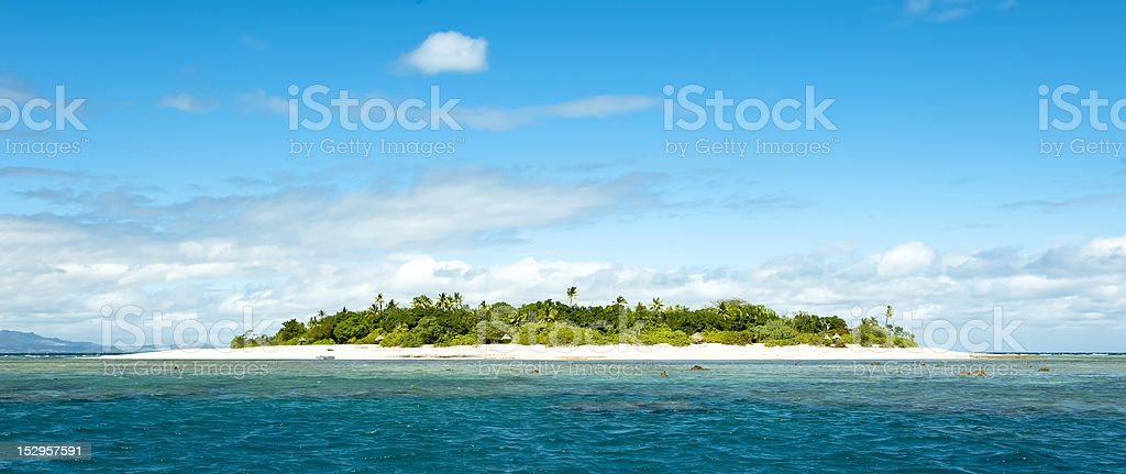 uninhabited remote island part of Fiji stock photo