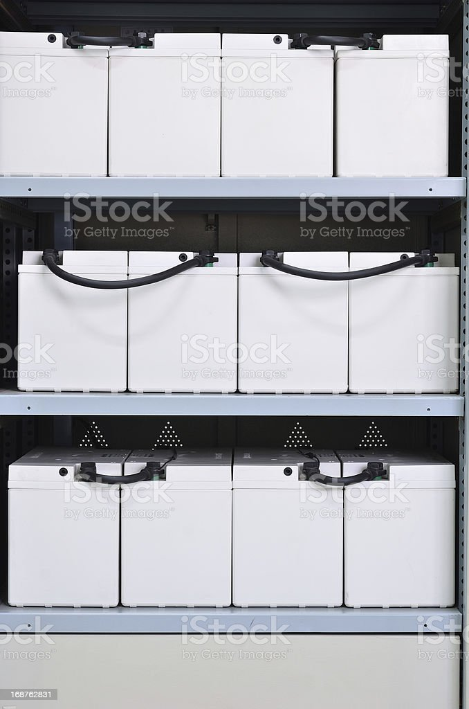 Uninterruptible Power Supply Battery stock photo