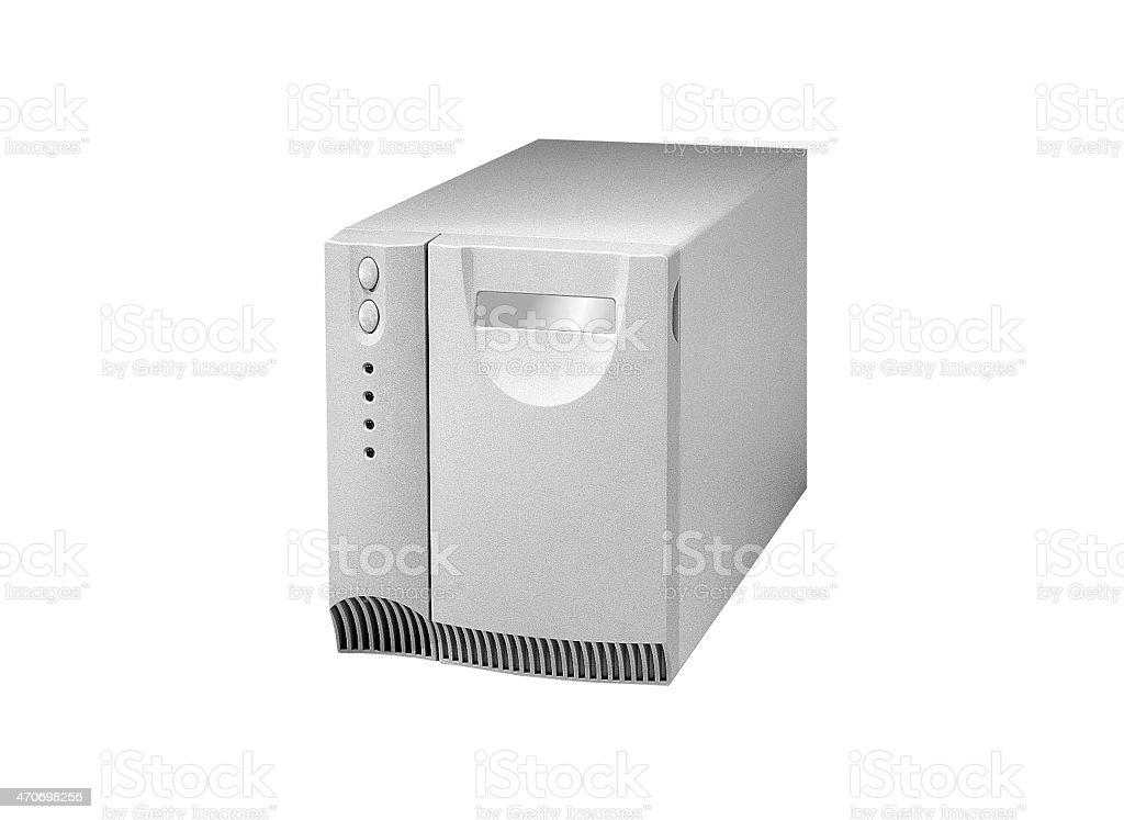 Uninterruptible power supply system isolated stock photo