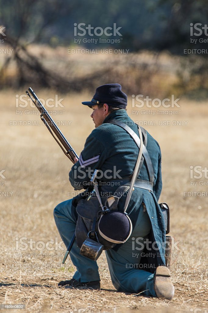 Union Army Soldier stock photo
