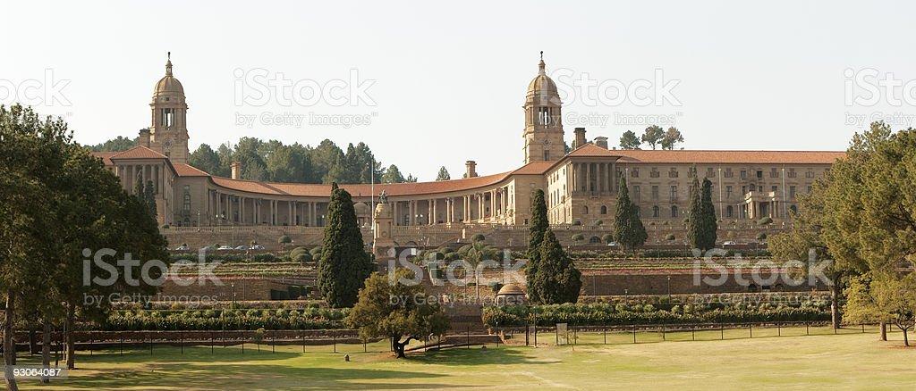 Union Buildings Panoramic stock photo