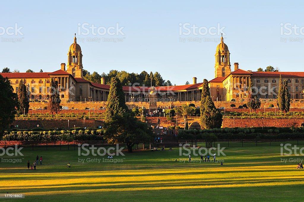 Union Buildings, Pretoria at Sunset royalty-free stock photo