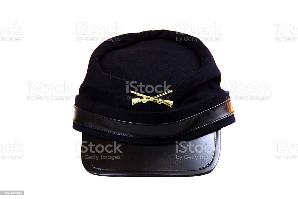 union civil war cap - isolated on white royalty-free stock photo