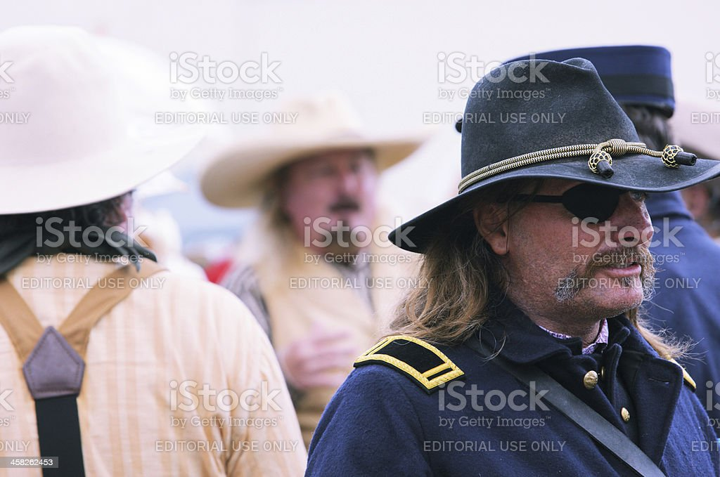 Union Civil War Soldier Reenactment royalty-free stock photo
