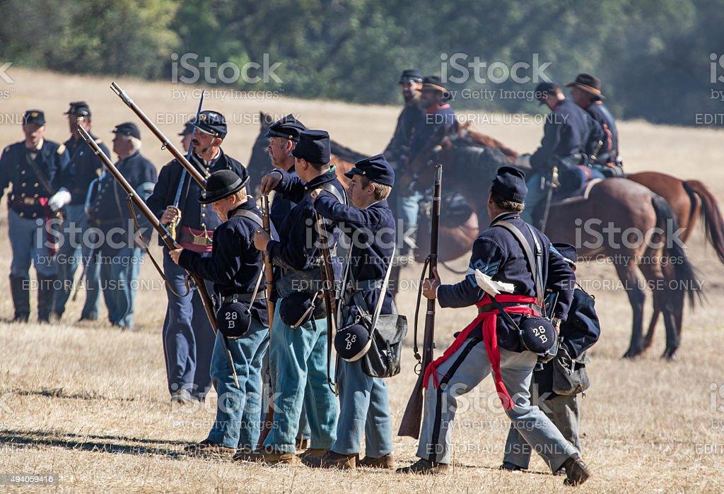 Union Infantry stock photo