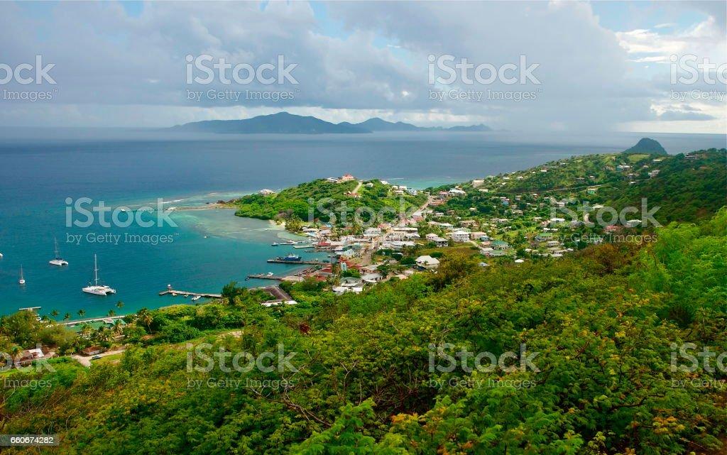 Union Island Clifton Bay Grenadines Islands stock photo
