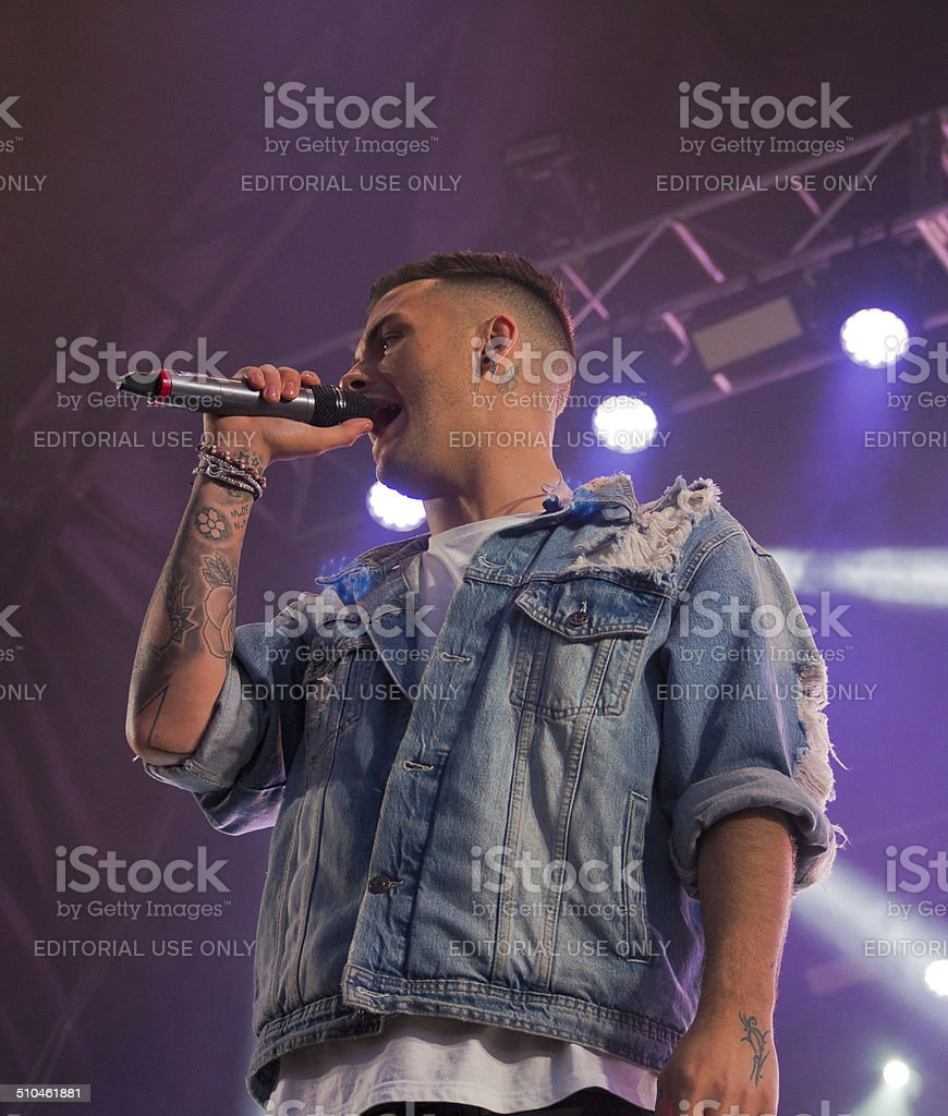 Union J apear live on stage stock photo