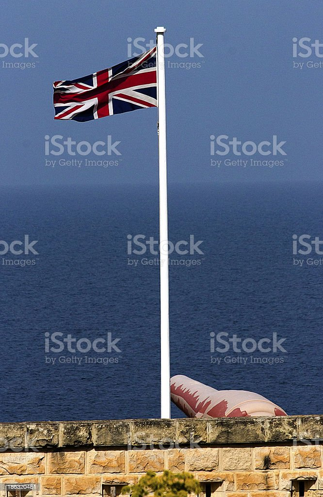 Union Jack and Armstrong in Malta stock photo