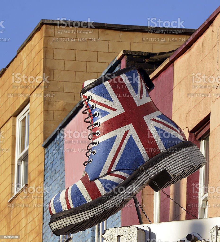 Union Jack Boot stock photo
