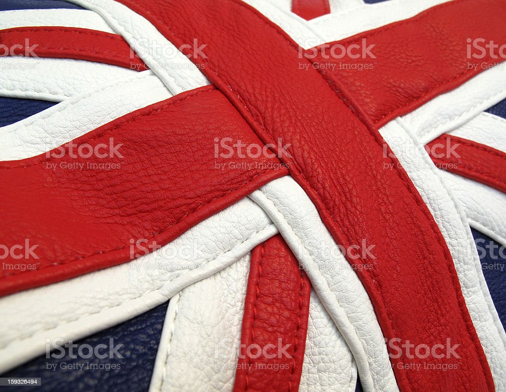 Union Jack British flag leather application royalty-free stock photo