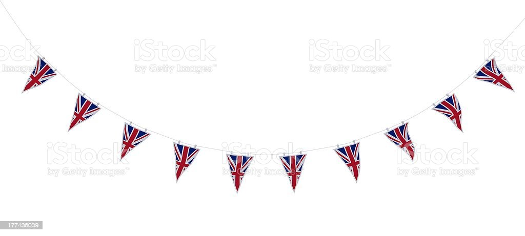 Union Jack Bunting and Banners royalty-free stock photo