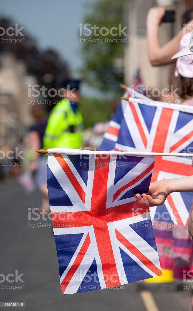 Union Jack celebration. stock photo
