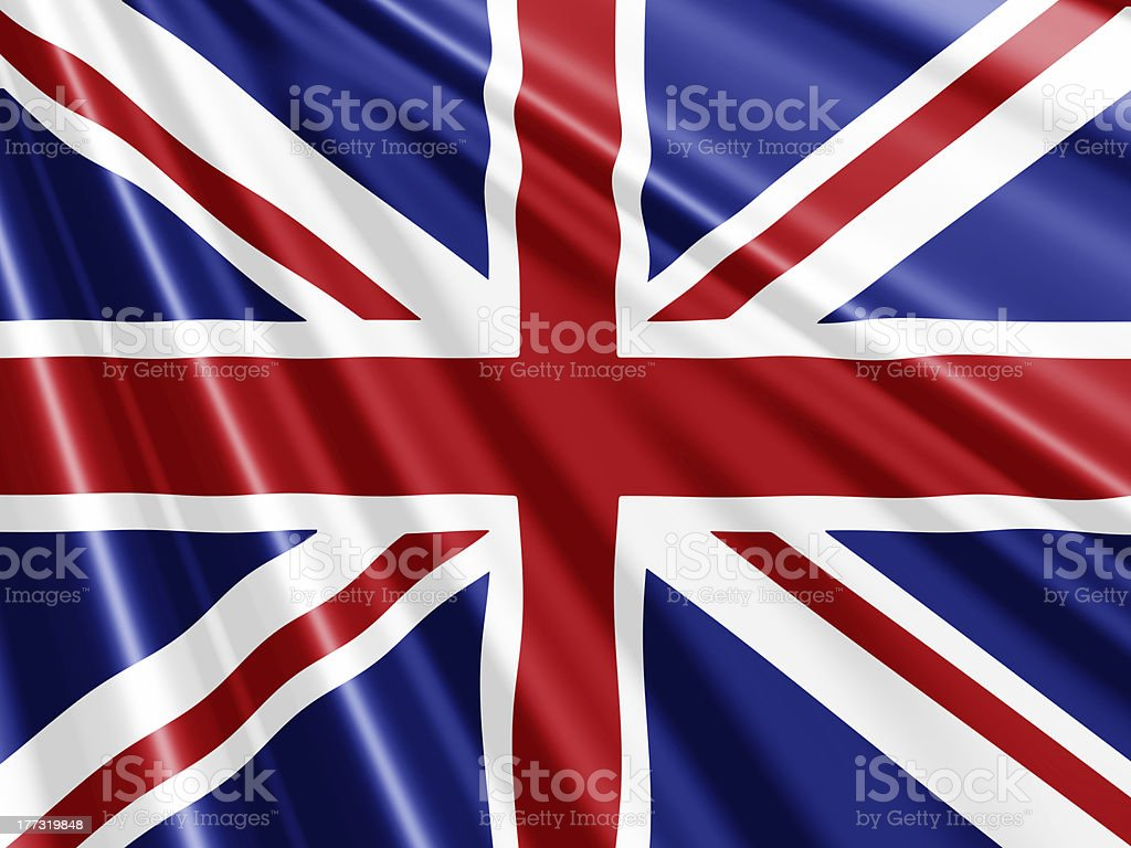 Union Jack Flag background stock photo
