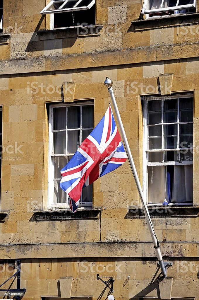 Union Jack flag, Chipping Campden. stock photo