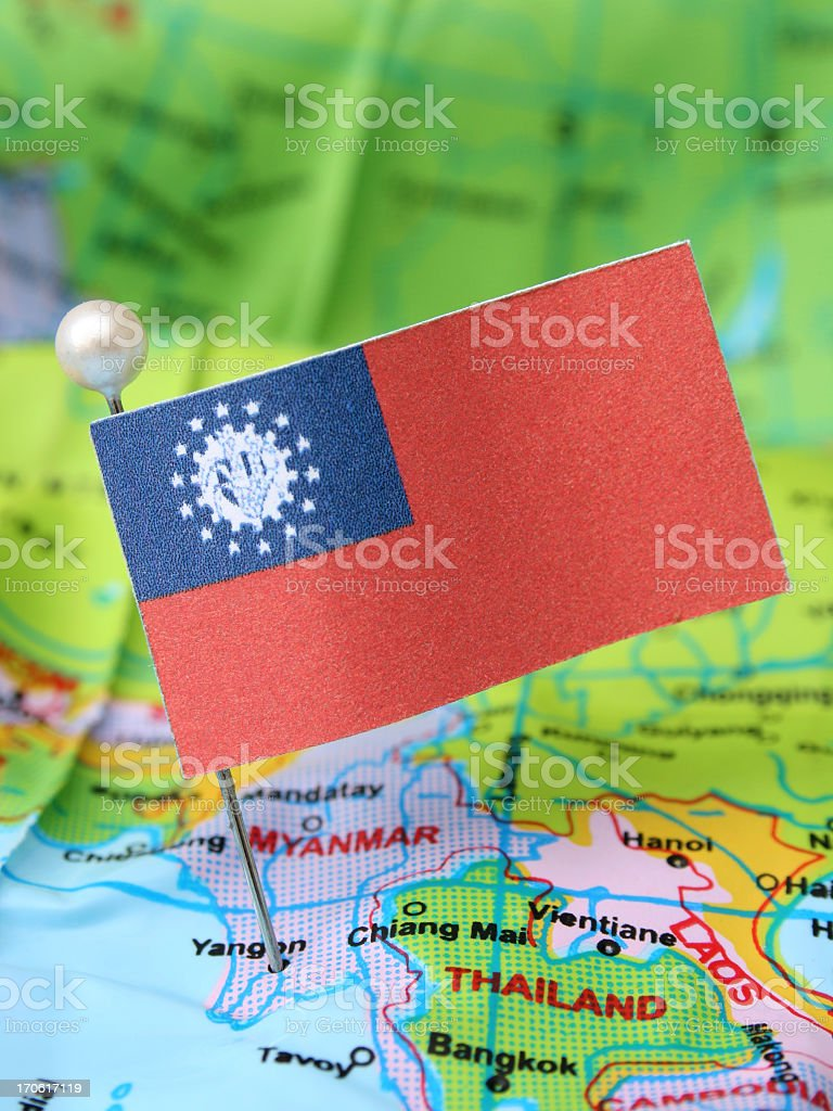 Union of Myanmar royalty-free stock photo