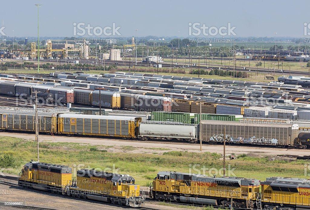 Union Pacific Bailey rail yard stock photo