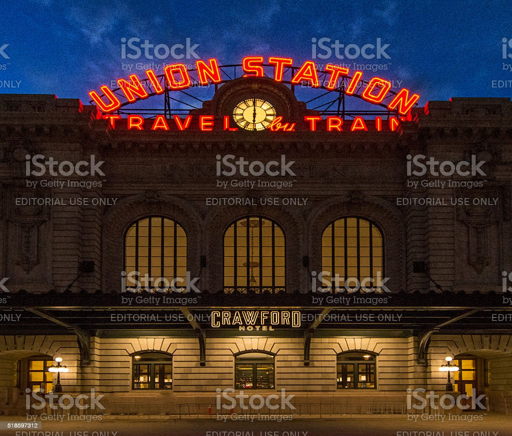 Union railroad station in Denver Colorado stock photo