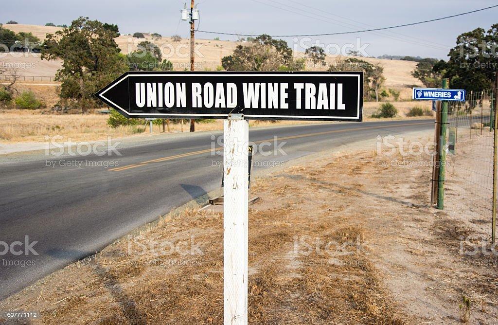 Union Road WIne Trail stock photo