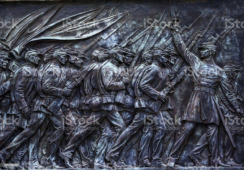 Union Soldiers US Grant Statue Memorial Capitol Hill Washington DC stock photo