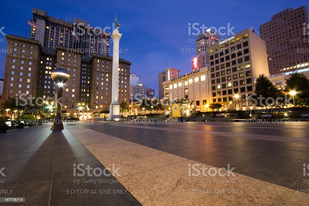 Union Square in San Francisco, California stock photo