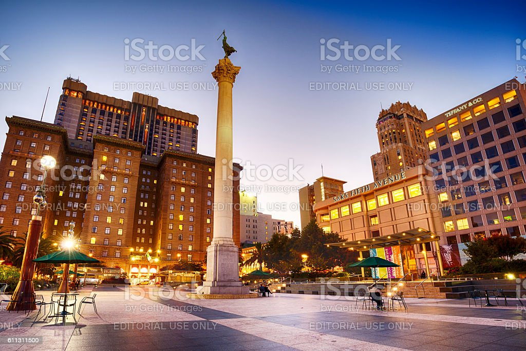 Union Square In San Francisco, California stock photo