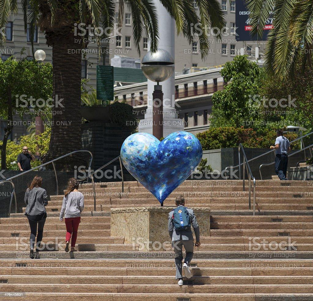 Union Square in San Francisco stock photo