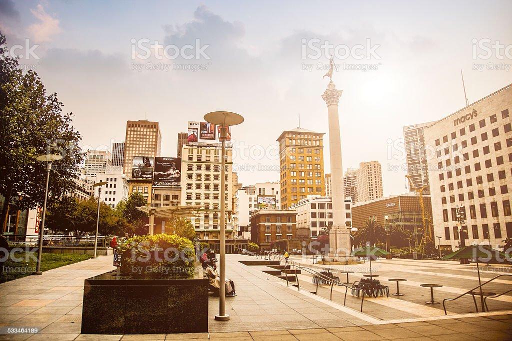 Union Square in San Franscisco stock photo