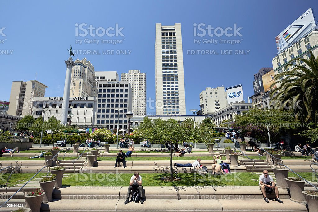 Union Square in summer stock photo