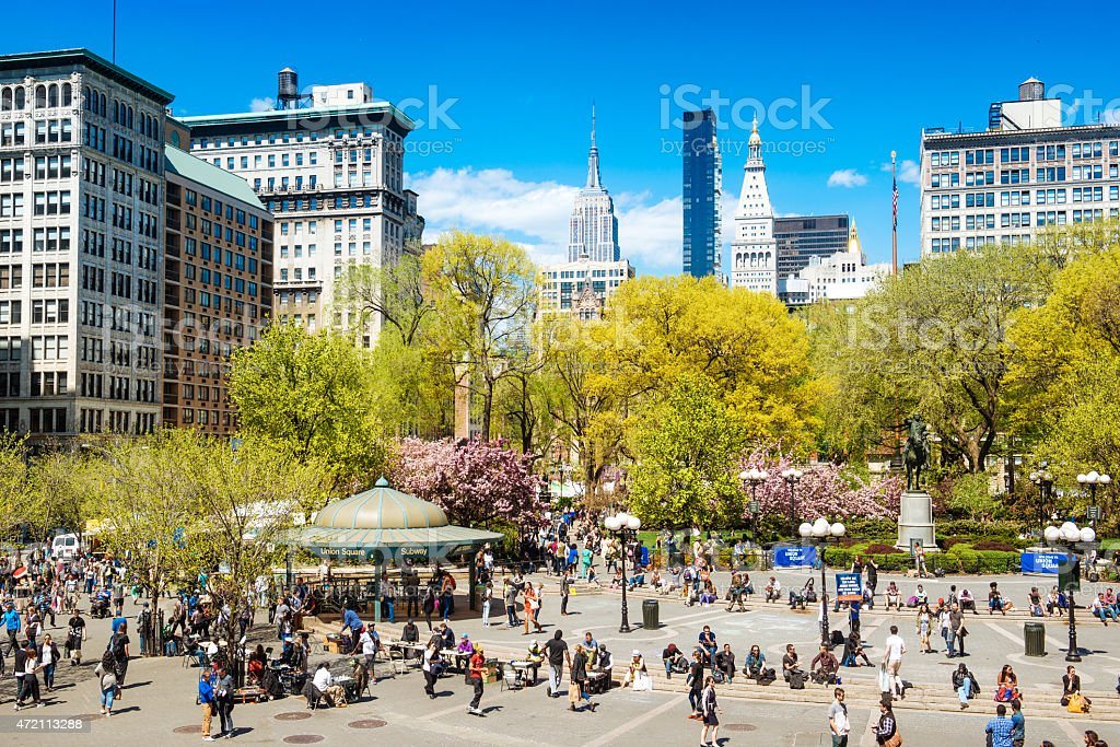 Union Square New York City stock photo
