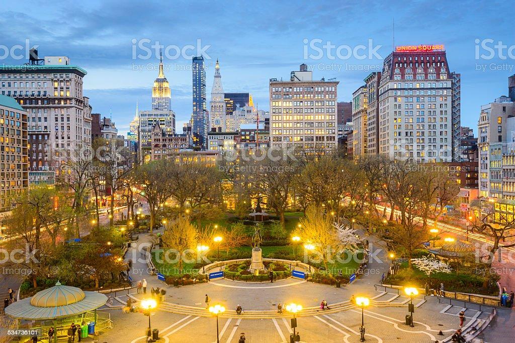 Union Square New York City stock photo