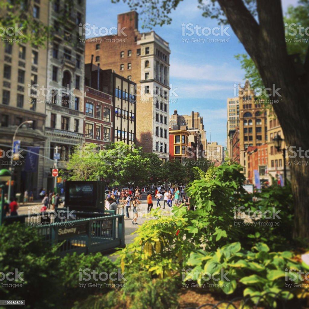 Union Square New York stock photo