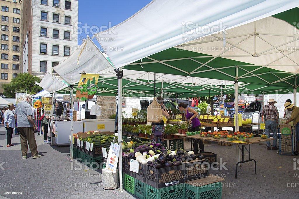Union Square Produce Market royalty-free stock photo