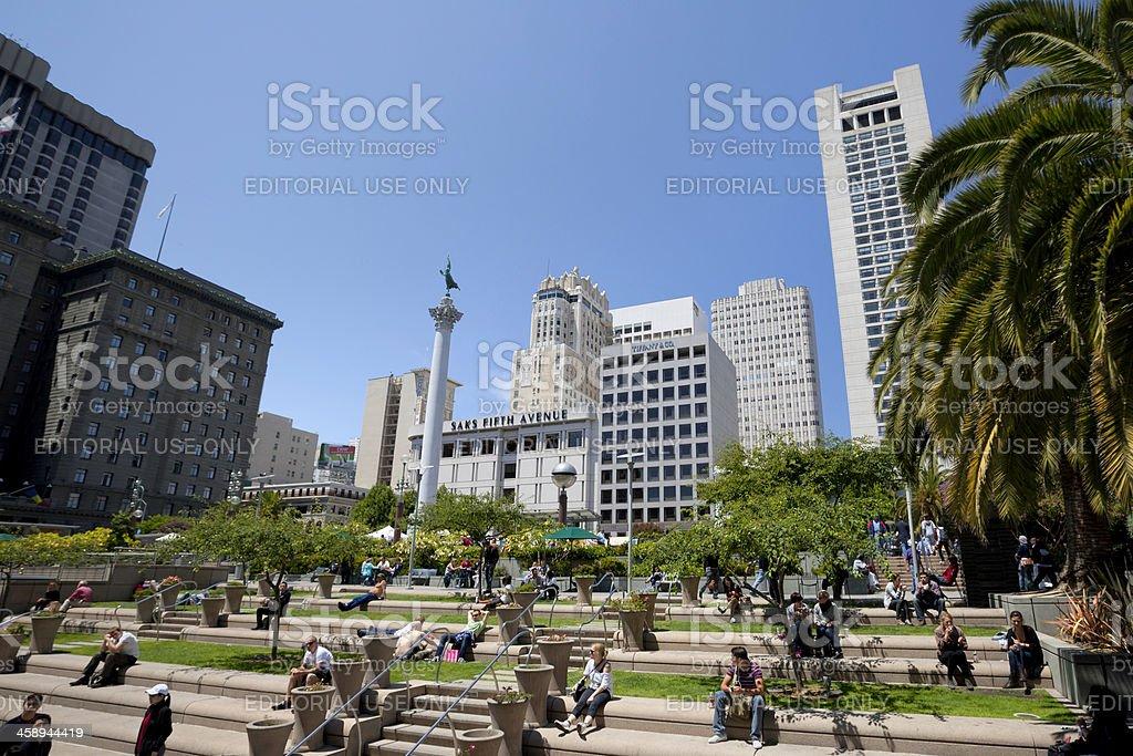 Union Square, San Francisco stock photo