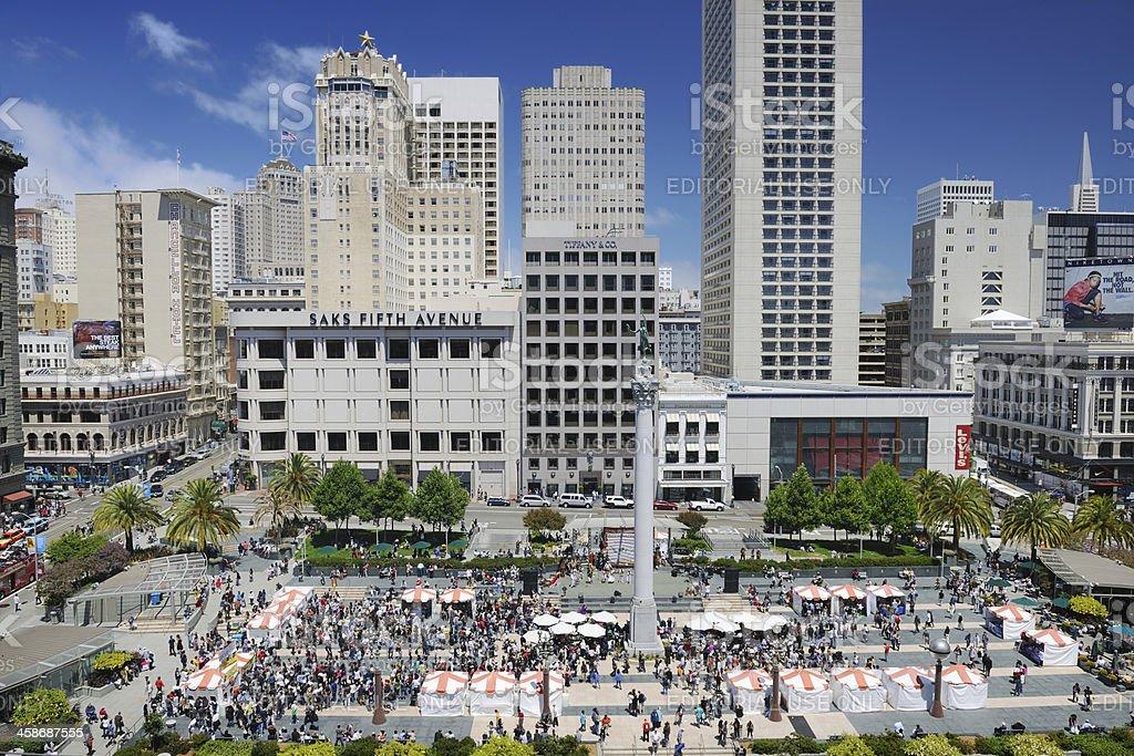 Union Square, San Francisco, USA (XXXL) stock photo