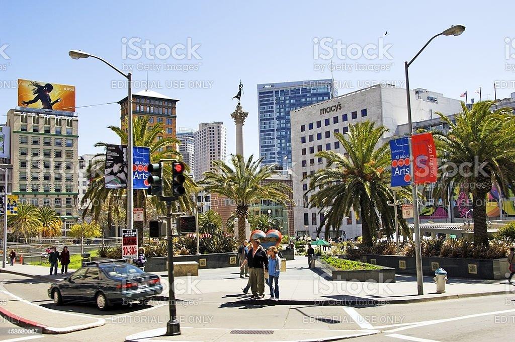 Union Square Shopping stock photo