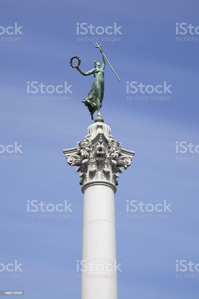 Union Square Victory Statue in San Francisco royalty-free stock photo