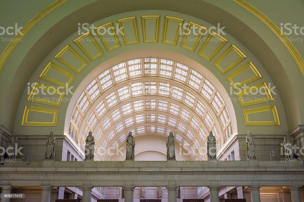 Union Station Architecture Interior Washington DC November 2016 stock photo