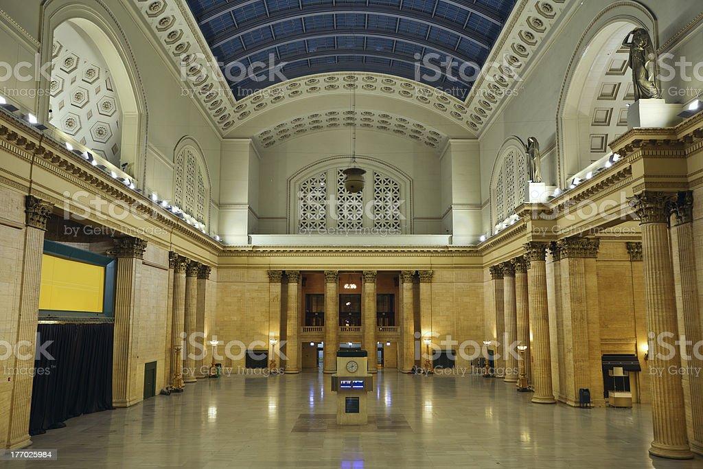 Union Station Chicago. stock photo
