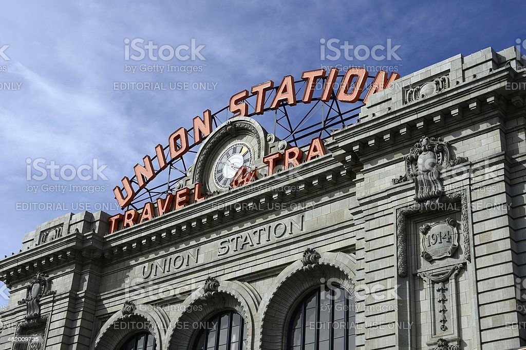 Union Station, Denver stock photo