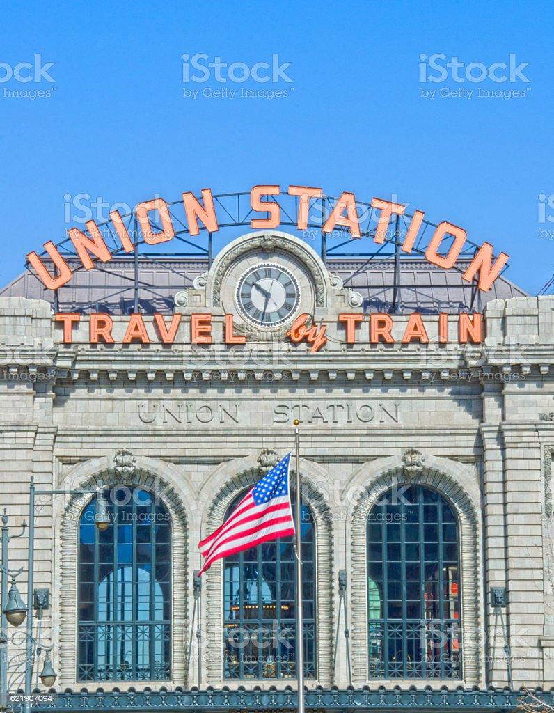 Union Station in Denver, Colorado stock photo
