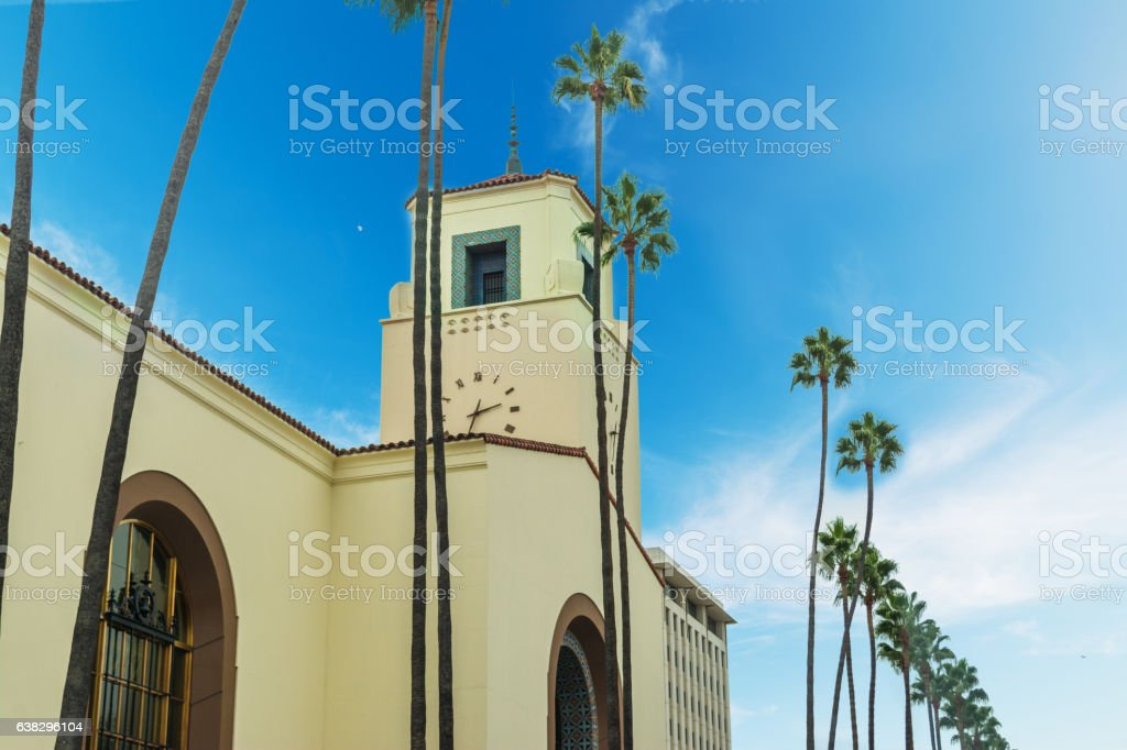 Union Station in Los Angeles stock photo