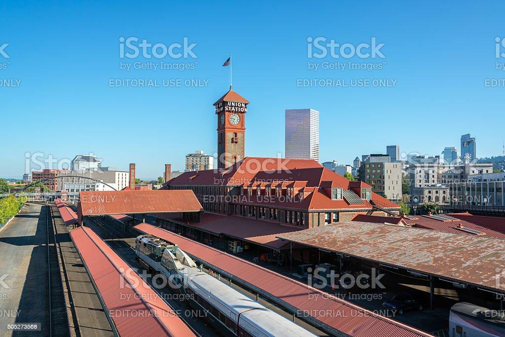 Union Station in Portland, Oregon stock photo