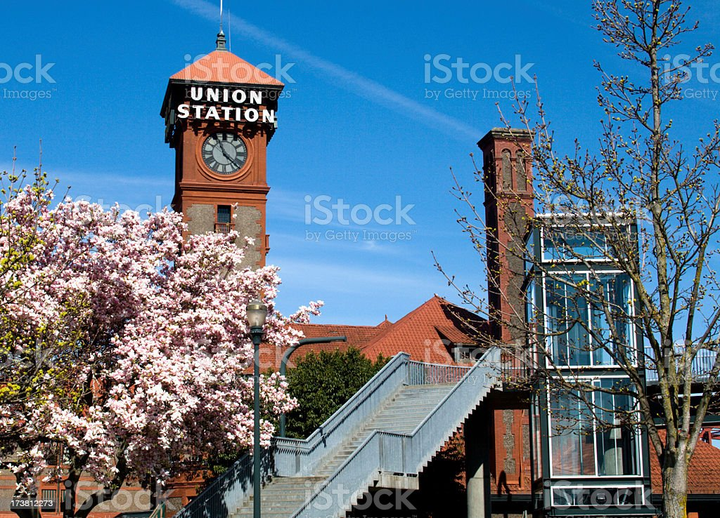 Union Station in the Spring royalty-free stock photo