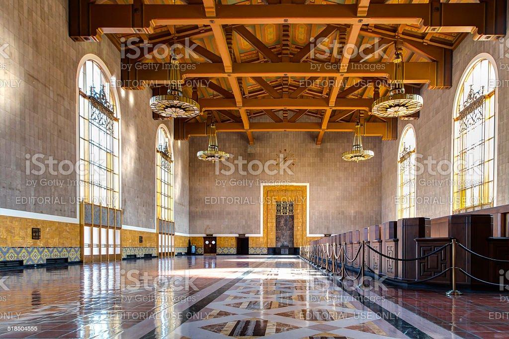 Union Station Los Angles, California stock photo