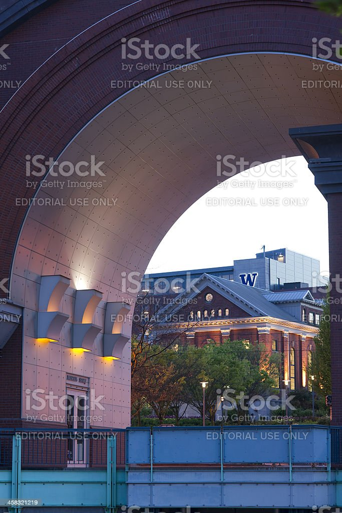 Union Station Museum Store Through Arch University Of Washington Campus stock photo