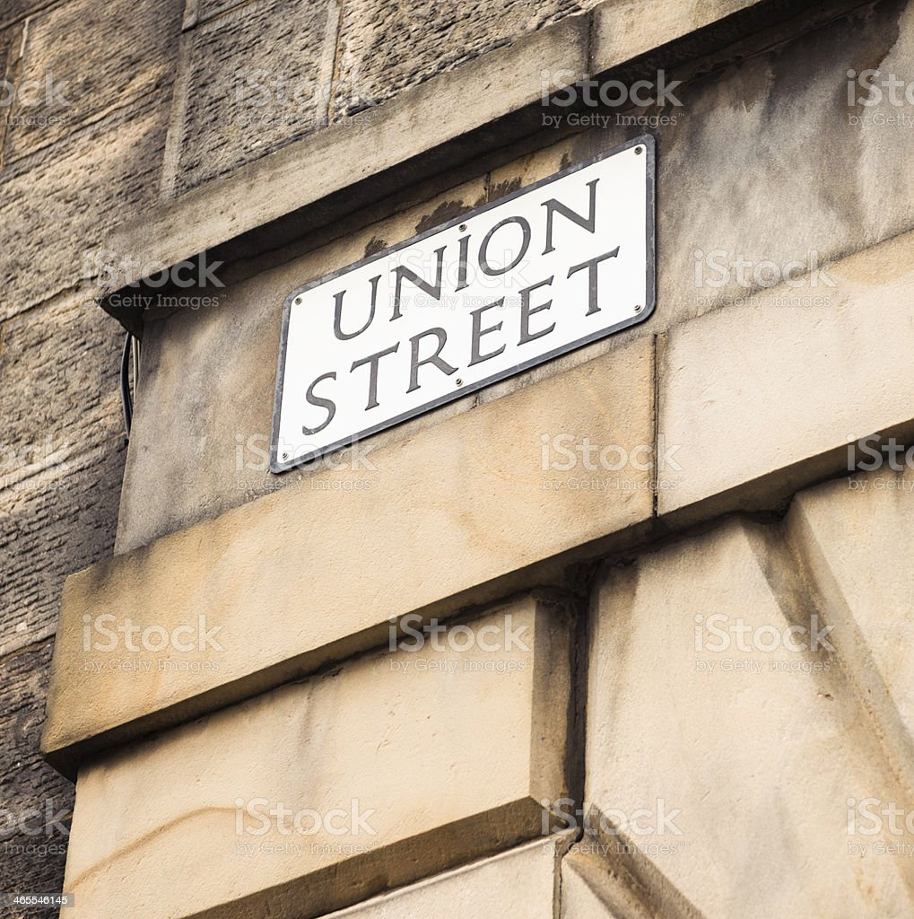 Union Street Sign royalty-free stock photo