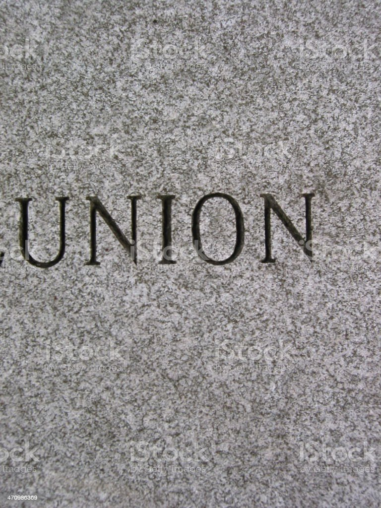 union - vertical - black and white royalty-free stock photo