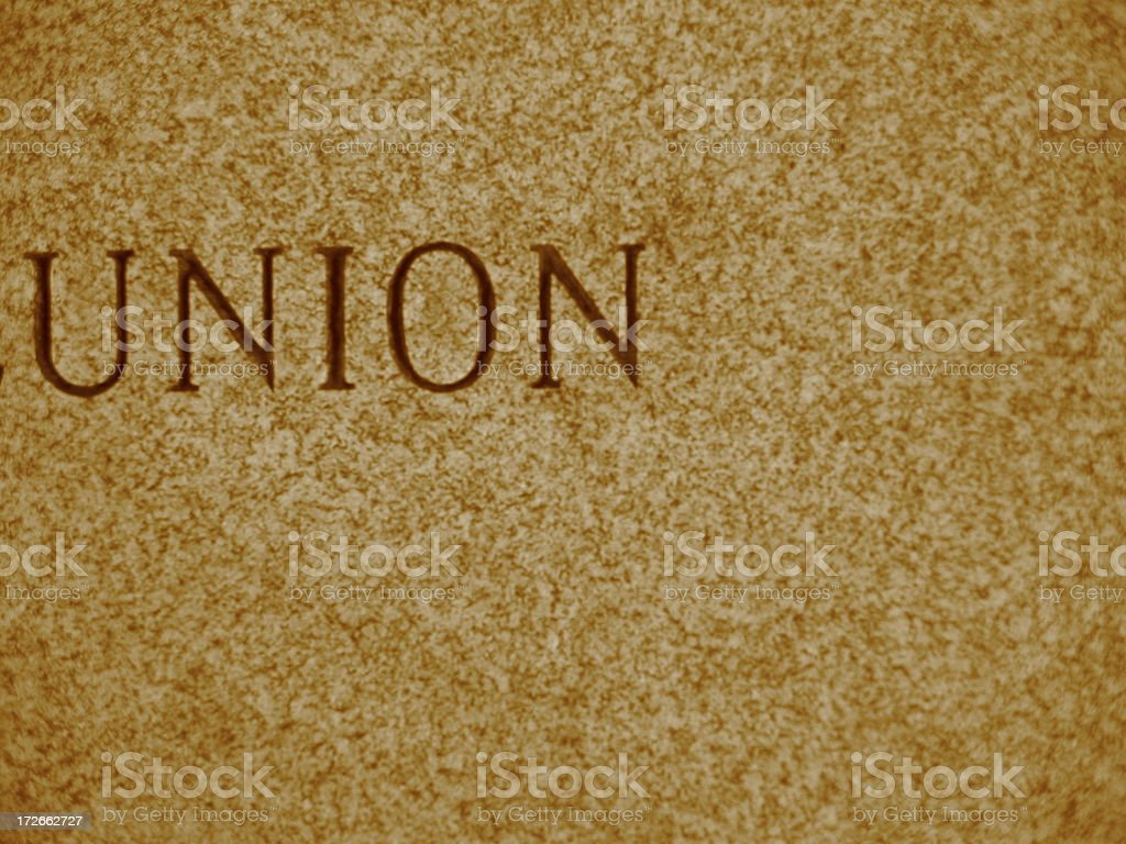 Union - vertical - sepia royalty-free stock photo